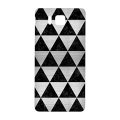 Triangle3 Black Marble & Silver Brushed Metal Samsung Galaxy Alpha Hardshell Back Case by trendistuff