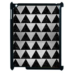 Triangle2 Black Marble & Silver Brushed Metal Apple Ipad 2 Case (black) by trendistuff