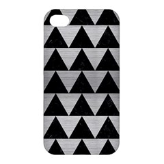 Triangle2 Black Marble & Silver Brushed Metal Apple Iphone 4/4s Hardshell Case by trendistuff