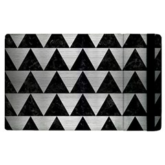 Triangle2 Black Marble & Silver Brushed Metal Apple Ipad 3/4 Flip Case by trendistuff