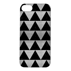 Triangle2 Black Marble & Silver Brushed Metal Apple Iphone 5s/ Se Hardshell Case by trendistuff
