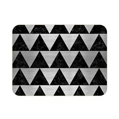 Triangle2 Black Marble & Silver Brushed Metal Double Sided Flano Blanket (mini) by trendistuff