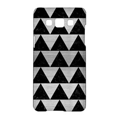 Triangle2 Black Marble & Silver Brushed Metal Samsung Galaxy A5 Hardshell Case  by trendistuff