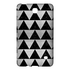 Triangle2 Black Marble & Silver Brushed Metal Samsung Galaxy Tab 4 (7 ) Hardshell Case  by trendistuff