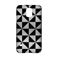 Triangle1 Black Marble & Silver Brushed Metal Samsung Galaxy S5 Hardshell Case  by trendistuff