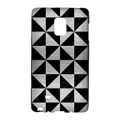 Triangle1 Black Marble & Silver Brushed Metal Samsung Galaxy Note Edge Hardshell Case by trendistuff