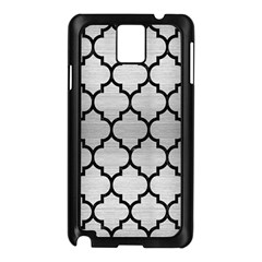 Tile1 Black Marble & Silver Brushed Metal (r) Samsung Galaxy Note 3 N9005 Case (black) by trendistuff