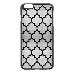 Tile1 Black Marble & Silver Brushed Metal (r) Apple Iphone 6 Plus/6s Plus Black Enamel Case by trendistuff