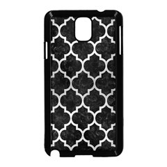 Tile1 Black Marble & Silver Brushed Metal Samsung Galaxy Note 3 Neo Hardshell Case (black) by trendistuff