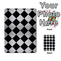 Square2 Black Marble & Silver Brushed Metal Multi Purpose Cards (rectangle) by trendistuff