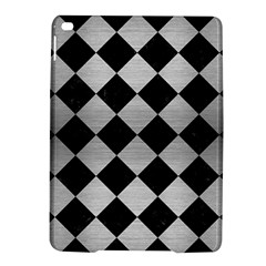 Square2 Black Marble & Silver Brushed Metal Apple Ipad Air 2 Hardshell Case by trendistuff