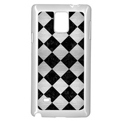 Square2 Black Marble & Silver Brushed Metal Samsung Galaxy Note 4 Case (white) by trendistuff