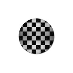 Square1 Black Marble & Silver Brushed Metal Golf Ball Marker by trendistuff