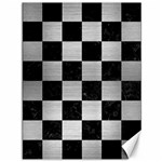 SQUARE1 BLACK MARBLE & SILVER BRUSHED METAL Canvas 36  x 48  48 x36  Canvas - 1