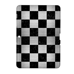 Square1 Black Marble & Silver Brushed Metal Samsung Galaxy Tab 2 (10 1 ) P5100 Hardshell Case  by trendistuff