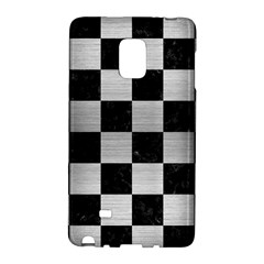 Square1 Black Marble & Silver Brushed Metal Samsung Galaxy Note Edge Hardshell Case by trendistuff