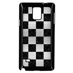 Square1 Black Marble & Silver Brushed Metal Samsung Galaxy Note 4 Case (black) by trendistuff