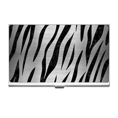 Skin3 Black Marble & Silver Brushed Metal (r) Business Card Holder by trendistuff