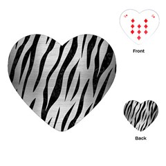 Skin3 Black Marble & Silver Brushed Metal (r) Playing Cards (heart)