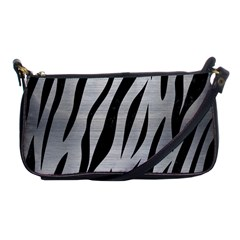 Skin3 Black Marble & Silver Brushed Metal (r) Shoulder Clutch Bag by trendistuff