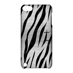 Skin3 Black Marble & Silver Brushed Metal (r) Apple Ipod Touch 5 Hardshell Case With Stand by trendistuff