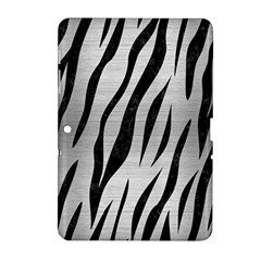 Skin3 Black Marble & Silver Brushed Metal (r) Samsung Galaxy Tab 2 (10 1 ) P5100 Hardshell Case  by trendistuff