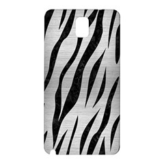 Skin3 Black Marble & Silver Brushed Metal (r) Samsung Galaxy Note 3 N9005 Hardshell Back Case by trendistuff