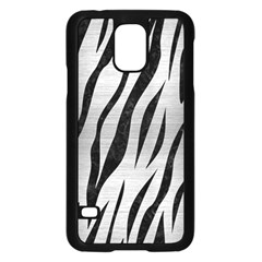 Skin3 Black Marble & Silver Brushed Metal (r) Samsung Galaxy S5 Case (black) by trendistuff
