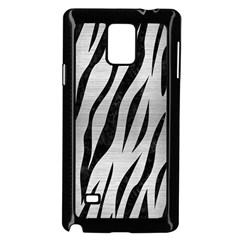 Skin3 Black Marble & Silver Brushed Metal (r) Samsung Galaxy Note 4 Case (black)