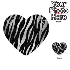 Skin3 Black Marble & Silver Brushed Metal Playing Cards 54 (heart) by trendistuff