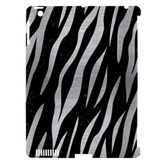 Skin3 Black Marble & Silver Brushed Metal Apple Ipad 3/4 Hardshell Case (compatible With Smart Cover) by trendistuff