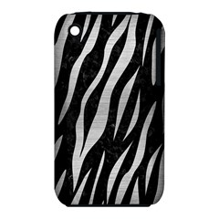 Skin3 Black Marble & Silver Brushed Metal Apple Iphone 3g/3gs Hardshell Case (pc+silicone) by trendistuff