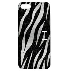 Skin3 Black Marble & Silver Brushed Metal Apple Iphone 5 Hardshell Case With Stand by trendistuff