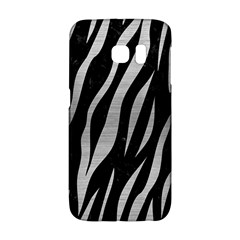 Skin3 Black Marble & Silver Brushed Metal Samsung Galaxy S6 Edge Hardshell Case by trendistuff