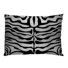 Skin2 Black Marble & Silver Brushed Metal (r) Pillow Case by trendistuff