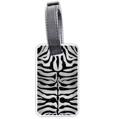 Skin2 Black Marble & Silver Brushed Metal (r) Luggage Tag (one Side) by trendistuff