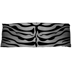 Skin2 Black Marble & Silver Brushed Metal (r) Body Pillow Case (dakimakura) by trendistuff