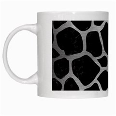 Skin1 Black Marble & Silver Brushed Metal (r) White Mug