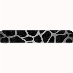 Skin1 Black Marble & Silver Brushed Metal (r) Small Bar Mat by trendistuff
