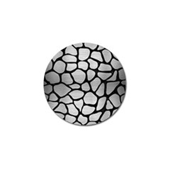 Skin1 Black Marble & Silver Brushed Metal Golf Ball Marker (4 Pack) by trendistuff