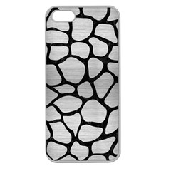 Skin1 Black Marble & Silver Brushed Metal Apple Seamless Iphone 5 Case (clear) by trendistuff