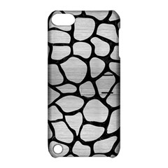 Skin1 Black Marble & Silver Brushed Metal Apple Ipod Touch 5 Hardshell Case With Stand by trendistuff