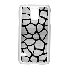Skin1 Black Marble & Silver Brushed Metal Samsung Galaxy S5 Case (white) by trendistuff