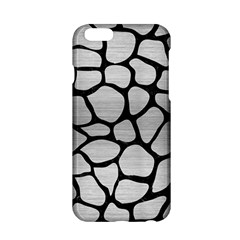 Skin1 Black Marble & Silver Brushed Metal Apple Iphone 6/6s Hardshell Case by trendistuff