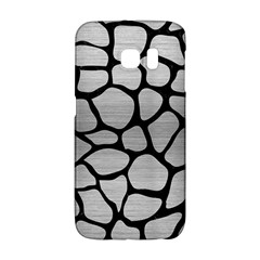 Skin1 Black Marble & Silver Brushed Metal Samsung Galaxy S6 Edge Hardshell Case