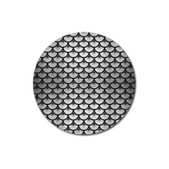Scales3 Black Marble & Silver Brushed Metal (r) Magnet 3  (round) by trendistuff