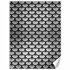 Scales3 Black Marble & Silver Brushed Metal (r) Canvas 36  X 48  by trendistuff