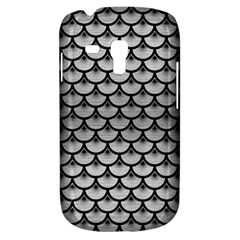 Scales3 Black Marble & Silver Brushed Metal (r) Samsung Galaxy S3 Mini I8190 Hardshell Case by trendistuff