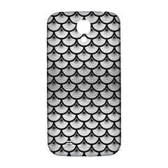 Scales3 Black Marble & Silver Brushed Metal (r) Samsung Galaxy S4 I9500/i9505  Hardshell Back Case by trendistuff