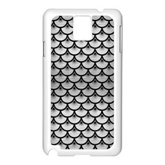 Scales3 Black Marble & Silver Brushed Metal (r) Samsung Galaxy Note 3 N9005 Case (white) by trendistuff